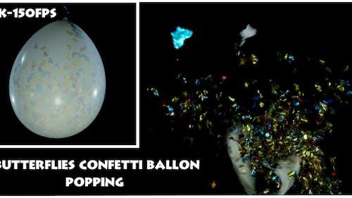 Schmetterlinge Konfetti Ballon Popping