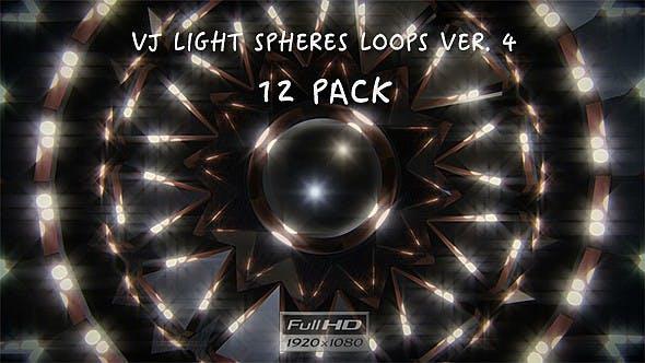 Thumbnail for VJ Light Spheres Loops Ver.4 - 12 Pack