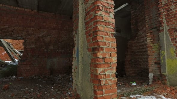Thumbnail for Old Destroyed Brick Building of the Former House