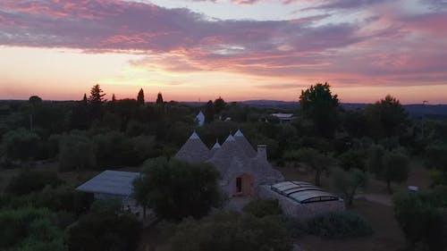 Aerial view of trullo