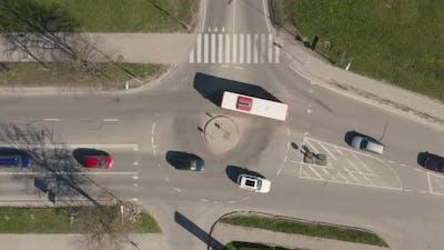 Car Traffic at Roundabout