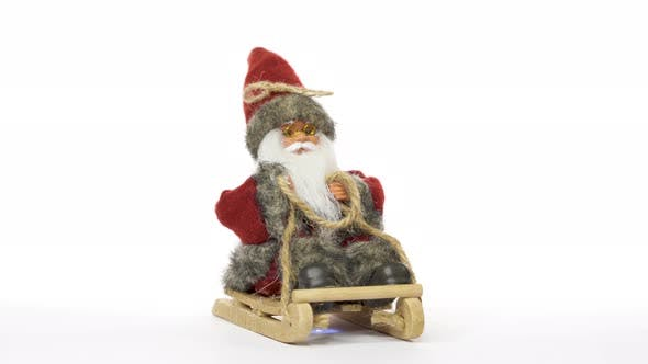 Thumbnail for Santa Claus Rotating in a Seamless Loop on White Background