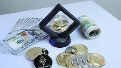 Ethereum and dollars