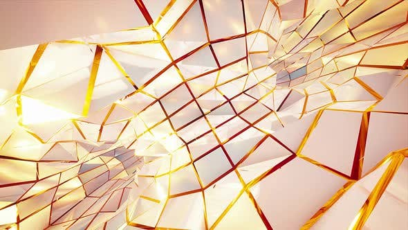 Cover Image for White Pearl And Gold Rotating Tunnel Vj Background