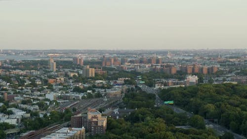 Flying Over Bronx River Parkway
