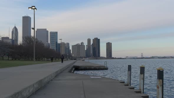 Thumbnail for The waterfront of Michigan Lake in Chicago