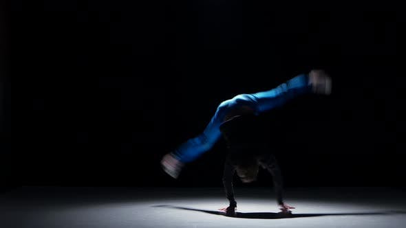 Thumbnail for Young Handsome Dancer Man Dancing Breakdance on Black