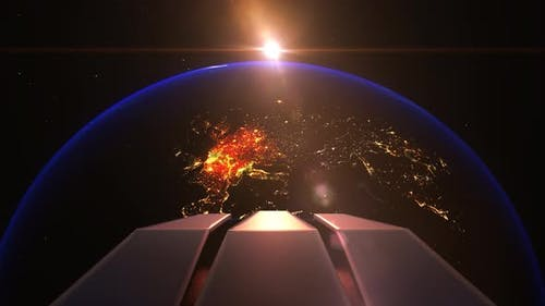 Earth Night Europe Alien Invasion