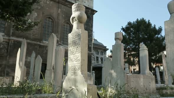 Istanbul Ottoman Ayazma Mosque And Tombstones Timelapse