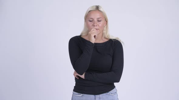 Cover Image for Young Stressed Blonde Woman Getting Bad News