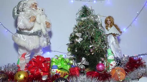 Christmas Tree And Gifts With Toys