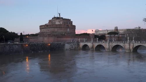 Rome, Italy: Mausoleum of Hadrian, Castle of Holy Angel