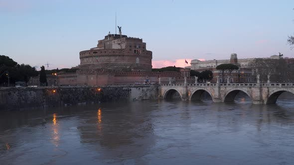 Thumbnail for Rome, Italy: Mausoleum of Hadrian, Castle of Holy Angel