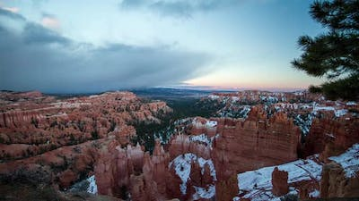 Time lapse over Bryce Canyon
