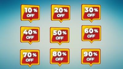 3D Sales Percentage Discount