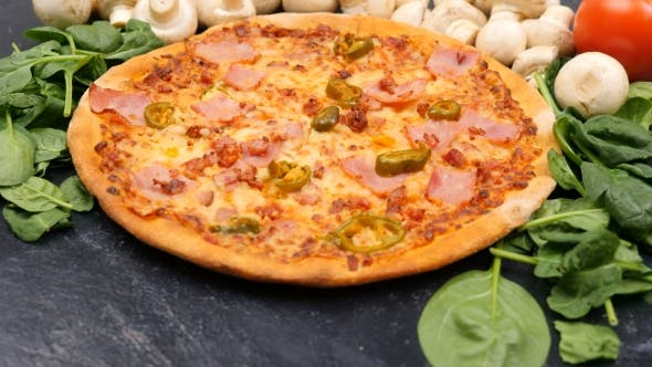 Thumbnail for Delicious Home Made Hot Pizza