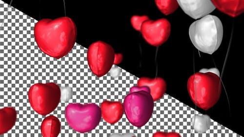 Herzballons Übergang