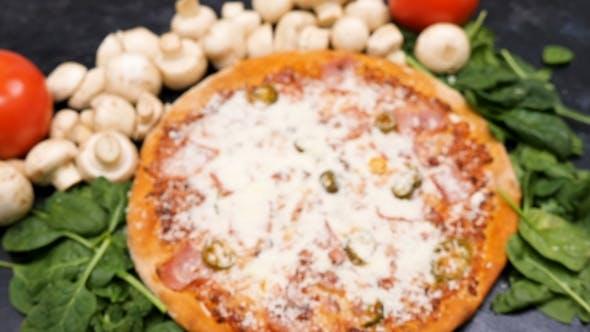 Köstliche Pizza