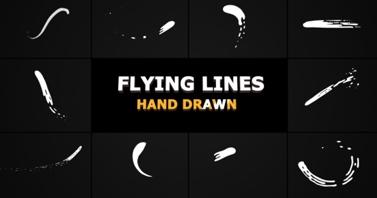 Download Hand Drawn Flying Lines by FlashFXbox