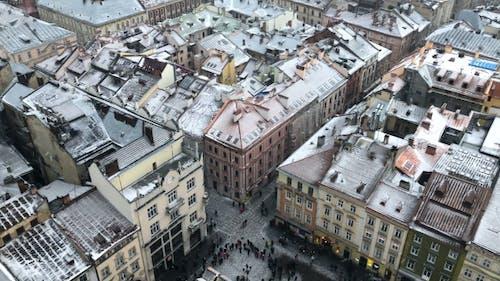 Schneesturm in der Altstadt Europas