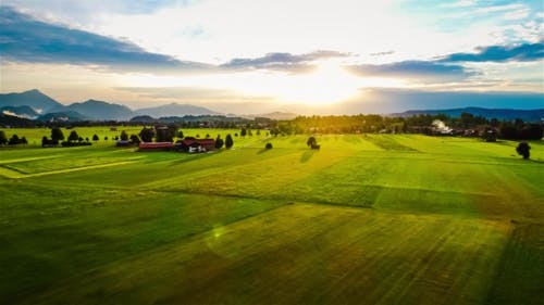 Air Sunset Forggensee and Schwangau, Germany, Bavaria