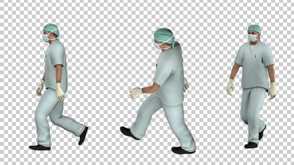 Thumbnail for Doctor Walk Animations