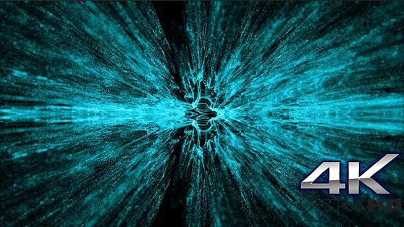 Thumbnail for Cinematic Light Blue Particles Loop