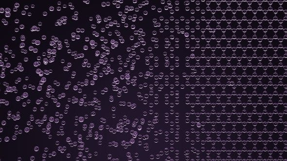 Thumbnail for Abstract Purple Hexagonal Molecular Structure