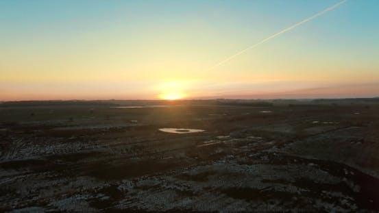 Thumbnail for Frozen Sunset Landscape