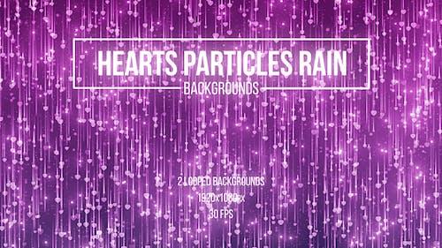 Hearts Particles Rain