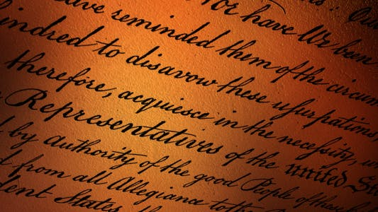 US Declaration of Independence - V