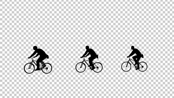 Bicycles Silhouette Animation