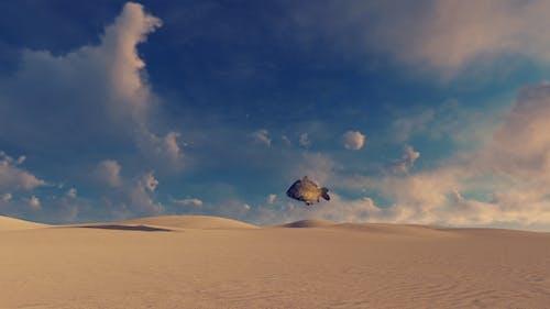 Wüste und Fisch - surreal Szene