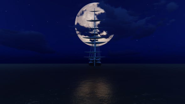 Cover Image for Moon and Ship