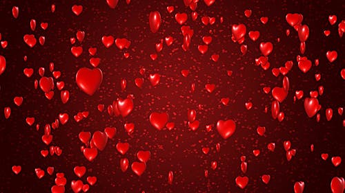 Red Hearts Valentines
