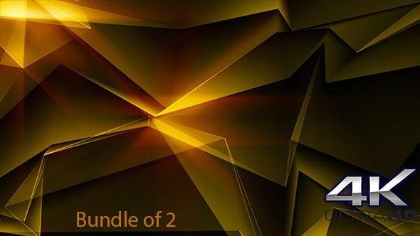Thumbnail for Gold Abstract Polygonal Background Loop