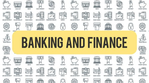 Banking And Finance - Outline Icons