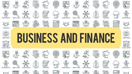 Business And Finance - Outline Icons