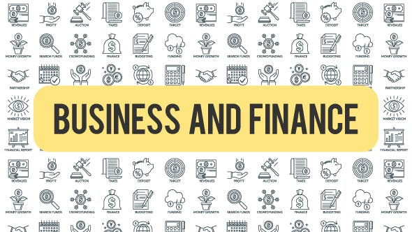 Thumbnail for Business And Finance - Outline Icons
