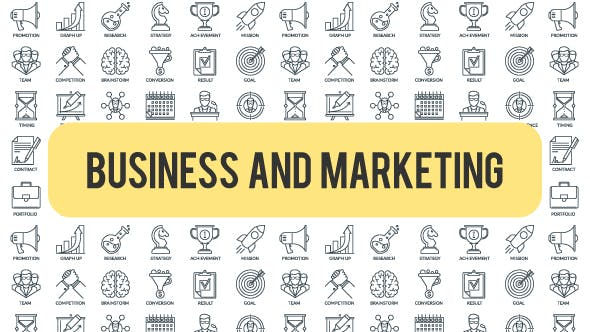 Thumbnail for Business And Marketing - Outline Icons