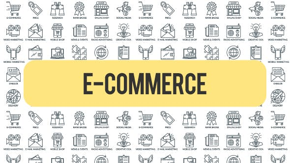 Thumbnail for E - Commerce - Outline Icons