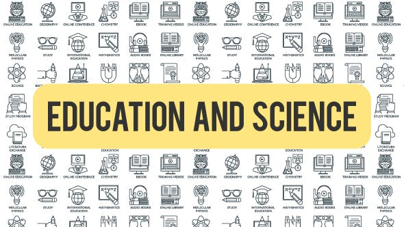 Thumbnail for Education And Science - Outline Icons