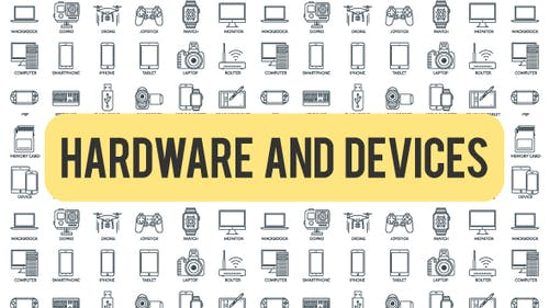 Hardware And Devices - Outline Icons