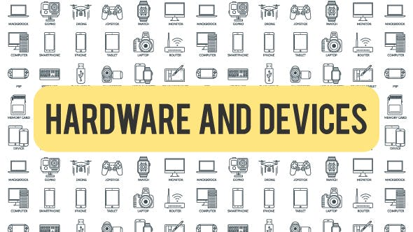 Thumbnail for Hardware And Devices - Outline Icons