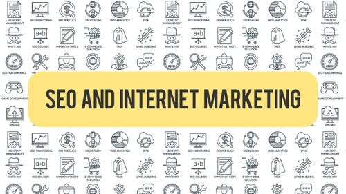 SEO And Internet Marketing - Outline Icons