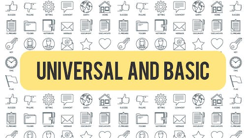 Universal And Basic - Outline Icons