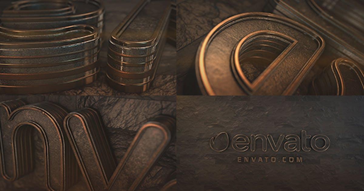 Dark Logo Reveal Element 3D