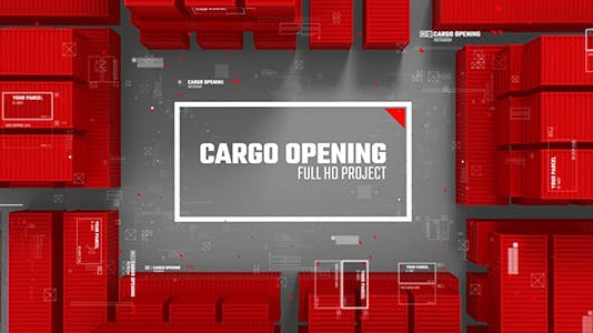 Cargo Opening/ Transportation of Parcels/ Post and Сontainer/ Corporate Logo