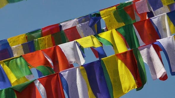 Thumbnail for Colorful Nepalese Prayer Flags
