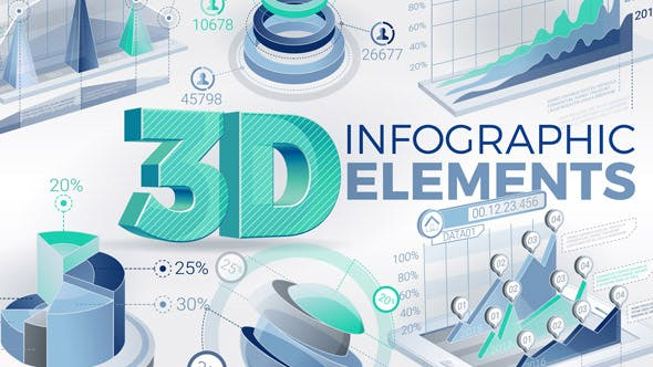 Thumbnail for 3D Infografik-Elemente